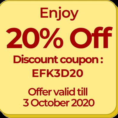 3d 20 discount